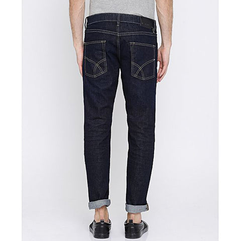 Distressed Denim Jeans For Women - Blue