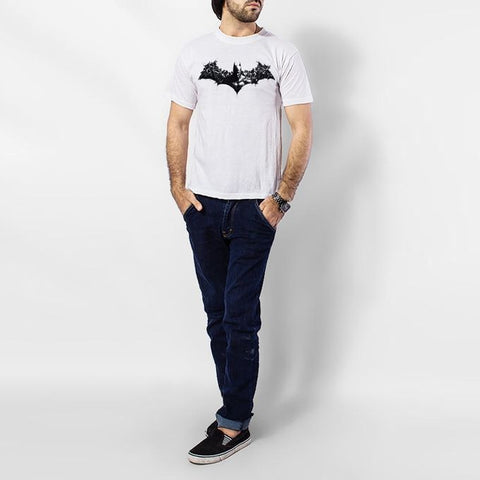 The Ajmery - Batman Printed T-Shirt for Men - White