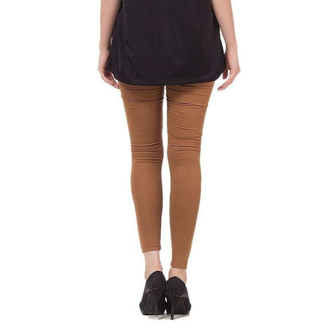 The Ajmery - Viscose Tights For Women - Brown