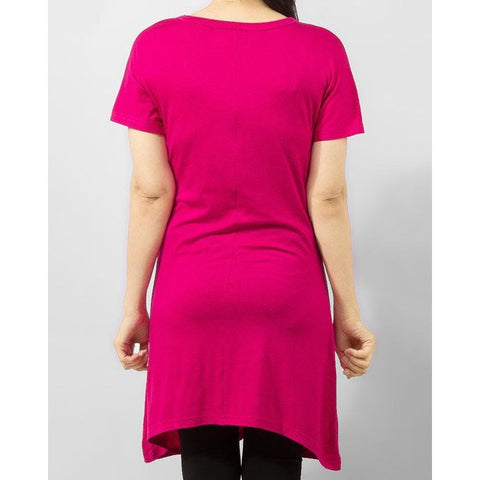 Ajmery Enterprise - Hot Viscose Tunic with Studs on Front - Pink