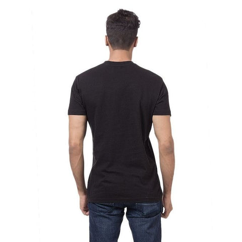 Ajmery Enterprise - Cotton Printed T-Shirt For Men - Black