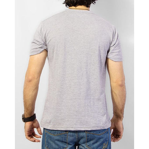 The Ajmery - Pack Of 2 Basic T-Shirts - Heather Grey & Green