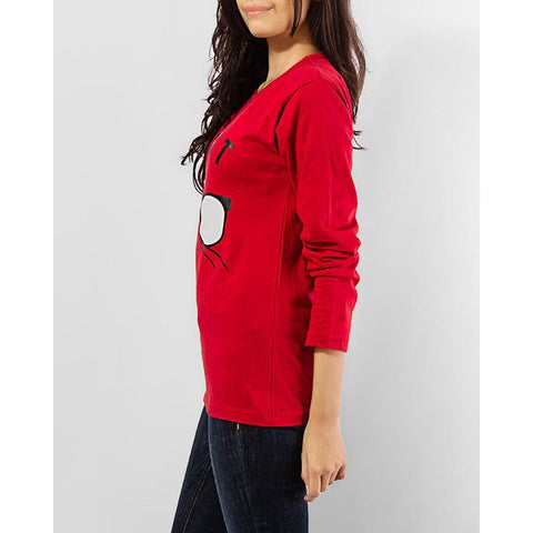 Ajmery Enterprise - Coolest Cat Long Sleeve T-shirt - Red