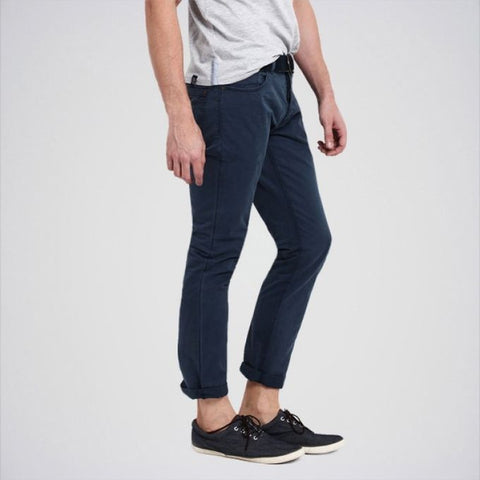 The Ajmery - Men's Cotton Twill Jeans - Navy Blue