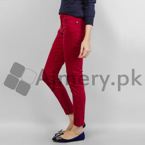 The Ajmery - Cotton Chinos - Red