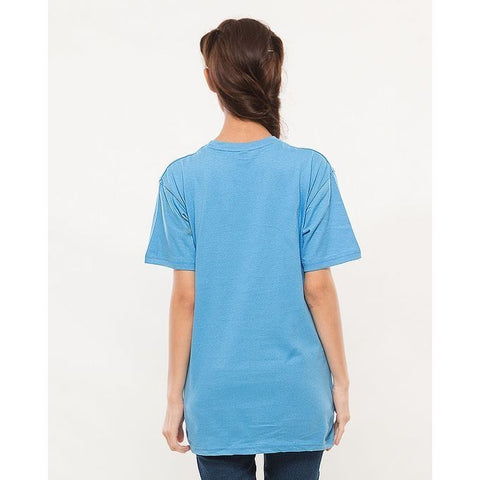 Ajmery Enterprises - Women's Short Sleeve Solid T-Shirt - KTY-C273 - Ice Blue