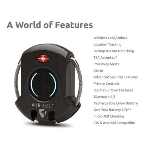 AirBolt - Bluetooth enabled Smart Lock - Grey