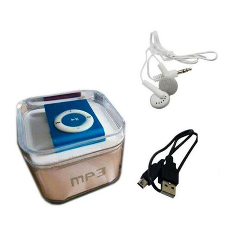 MP3 Player With Earphones - Blue & White