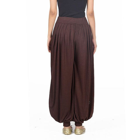 Ajmery Enterprise - Viscose Harem Pants - KTY-116 - Dark Brown