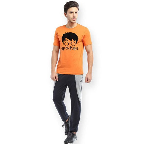 The Ajmery - Cotton Harry Potter Printed Tshirt For Men - Orange