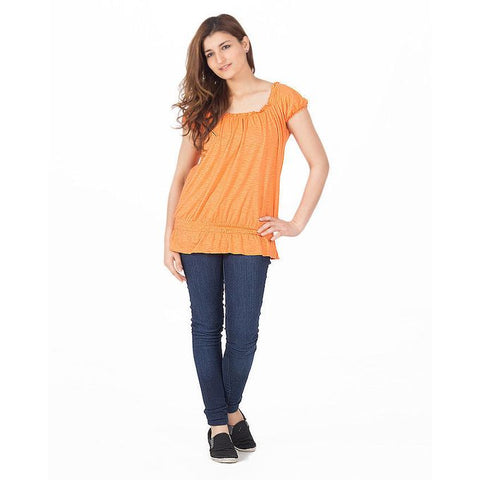 Ajmery Enterprise - Viscose Western Tunic - KTY-90 - Orange
