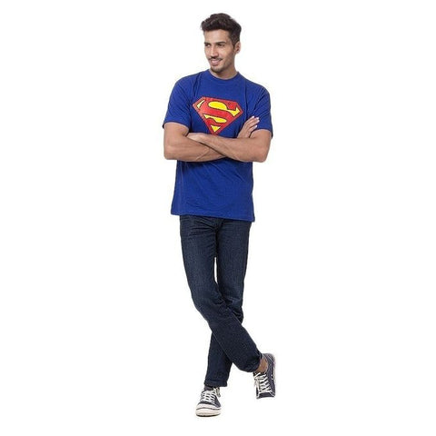 The Ajmery - Cotton Superman T-Shirt For Men - Blue
