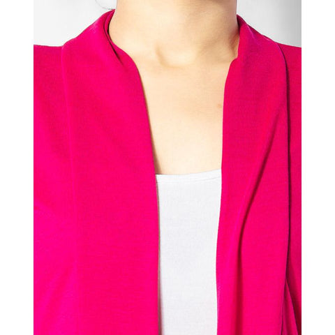 Ajmery Enterprise - Hot Cotton Shrug - Pink