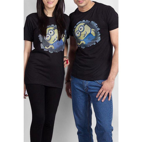 The Ajmery - Cotton Minion T Shirt - Black