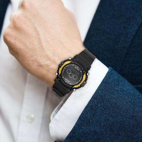 Digital Sports Watch For Men - Yellow