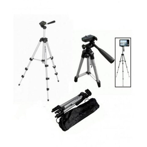 R.F Store - Tripod Stand For Dlsr Camera - 3110 - Black & Silver