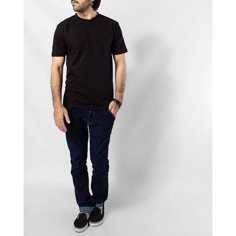The Ajmery - Cotton T-Shirt - Black & Heather Grey