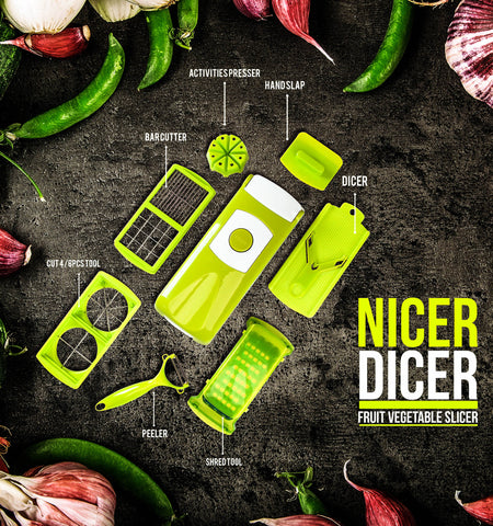 Nicer Dicer Vegetable & Fruits Cutter - Green