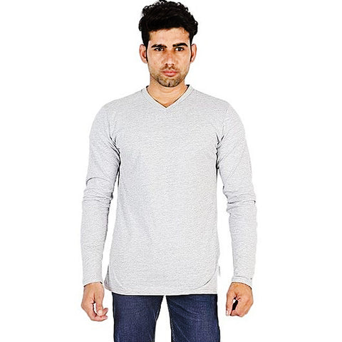 Cotton Jersey T-Shirt for Men - Light Grey