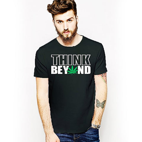 Think Beyond Round Neck T-Shirt - Green