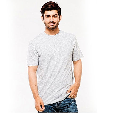 Light Grey Cotton T-Shirt for Men - Light Grey