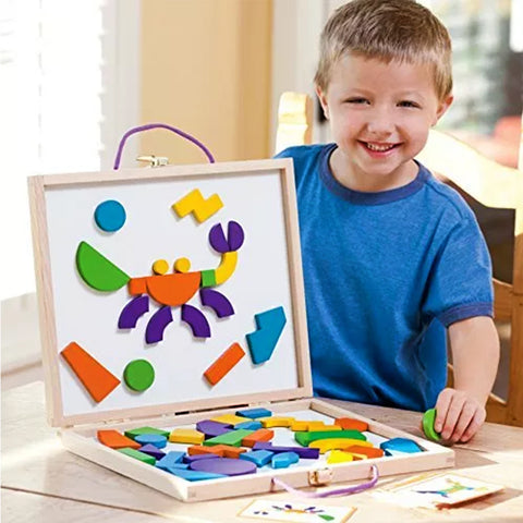 Magnetic Puzzle Learning Case - Multicolor