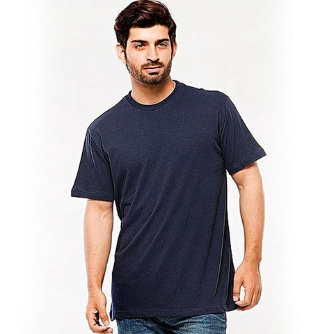 Cotton T-Shirt for Men - Navy Blue