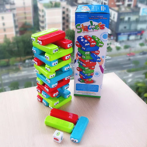 Stackers Brick Tower Stacking Game Cartoon Puzzle - Multicolor