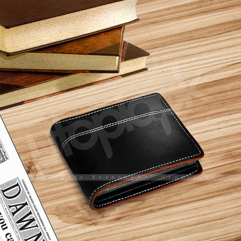 852bef4014e6 Leather Wallet for Men 100% Original Leather Bruno Black – Utopia.pk