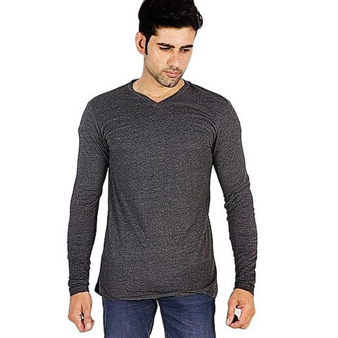 Cotton Jersey T-Shirt for Men - Charcoal