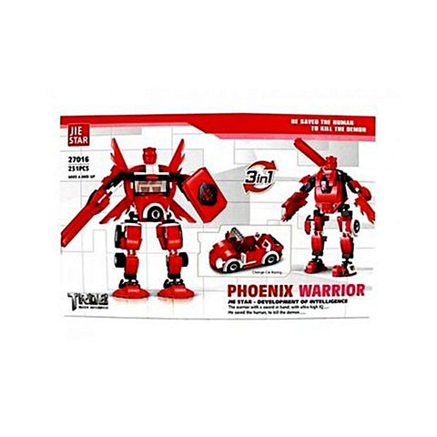 Phoenix Warrior 3 in 1 Building Blocks Set - Multicolour
