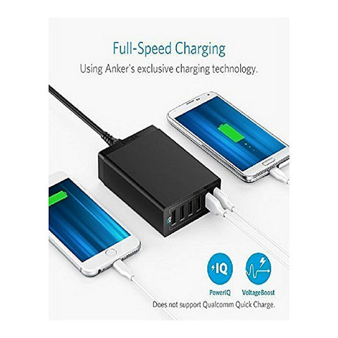 Anker  - PowerPort 6 Charger - Black
