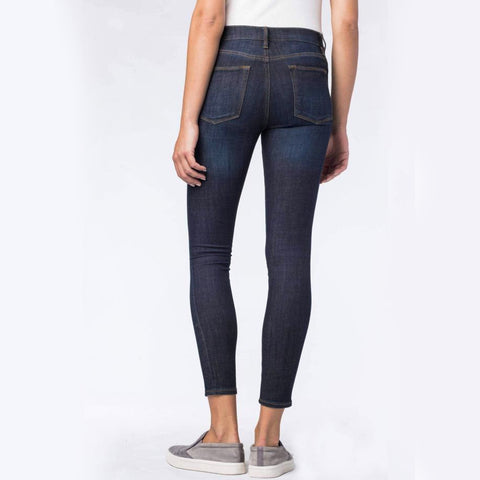 Womens Slim And Fit Skinny Jeans - DarkBlue