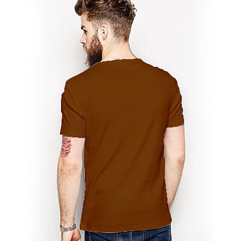 You Only Live Once - Round neck T-shirt for men - Brown