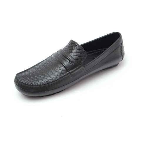 Rubber Loafers for Men (RL01) - Black