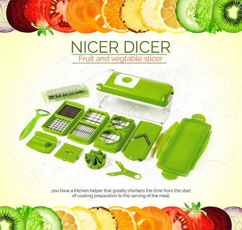 G.F Enterprises - Vegetable Cutter - Green