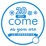 Come As You Are Co-op 20th Anniversary Logo