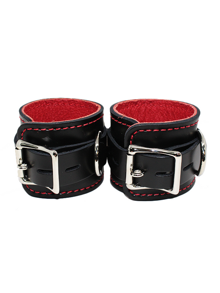 6Whips Latigo Wrist Restraints Red