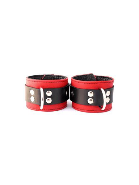 Aslan Leather Jaguar Red Wrist Restraints