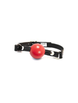 Aslan Leather Silicone Ball Gag with Red Ball