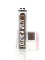 Clone-A-Willy Vibrating Molding Kit in Chocolate with Contents