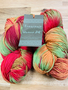 Araucania Huasco DK color 13 - Multi Pink/Green