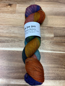 Brew City Yarns Yak Yak Sock  Heart Sisters