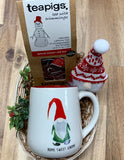 Gnome Mug and Tea Gift Basket