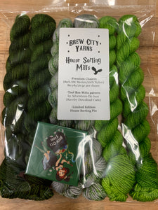 Brew City Yarns Kit House Sorting Mitts Slytherin