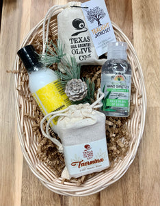 Texas Hill Country Olive Oil Co.  Tea light and Soap Gift Basket
