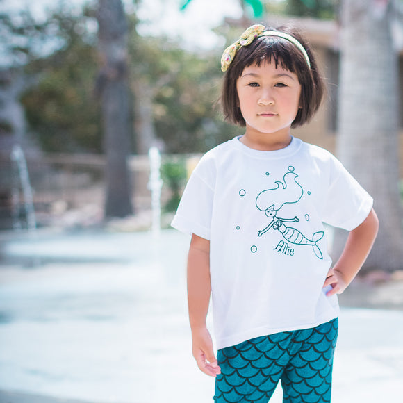 Mermaid kids shortsleeve shirt