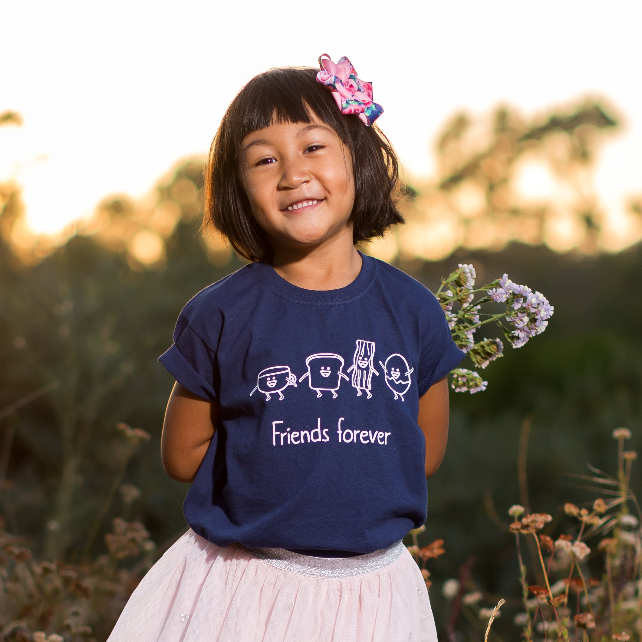 'Friends forever' kids shortsleeve shirt