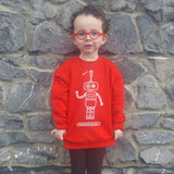 Robot kids sweater