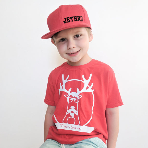 Reindeer kids shortsleeve shirt